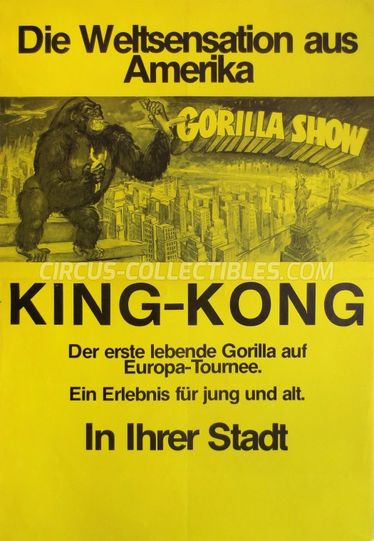 Gorilla Show Circus Poster - Germany, 0