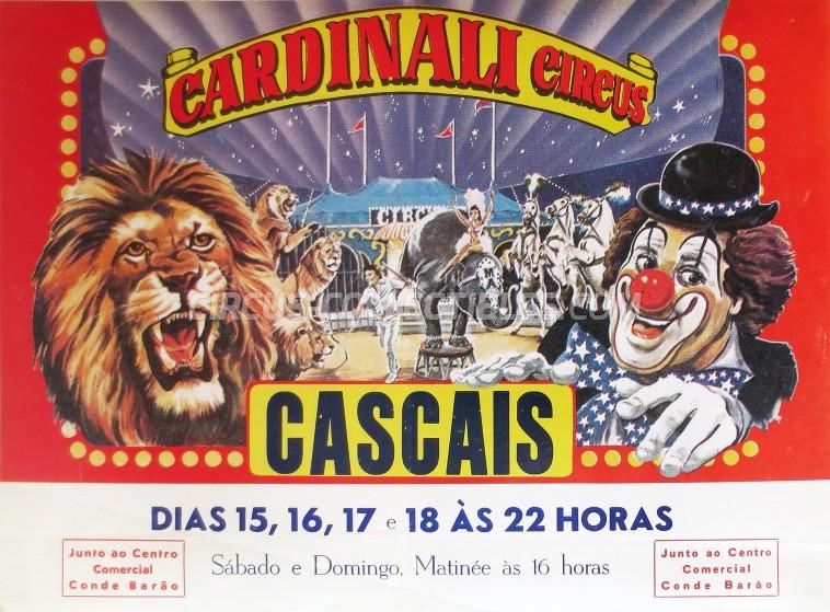 Cardinali Circus Circus Poster - Portugal, 1987