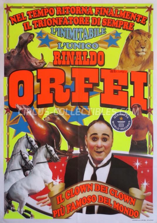 Rinaldo Orfei Circus Poster - Italy, 2012