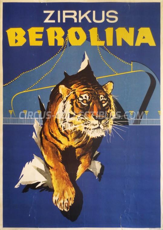Berolina Circus Poster - Germany, 1970