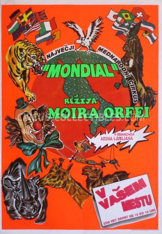 Moira Orfei Circus Poster - Italy, 1998
