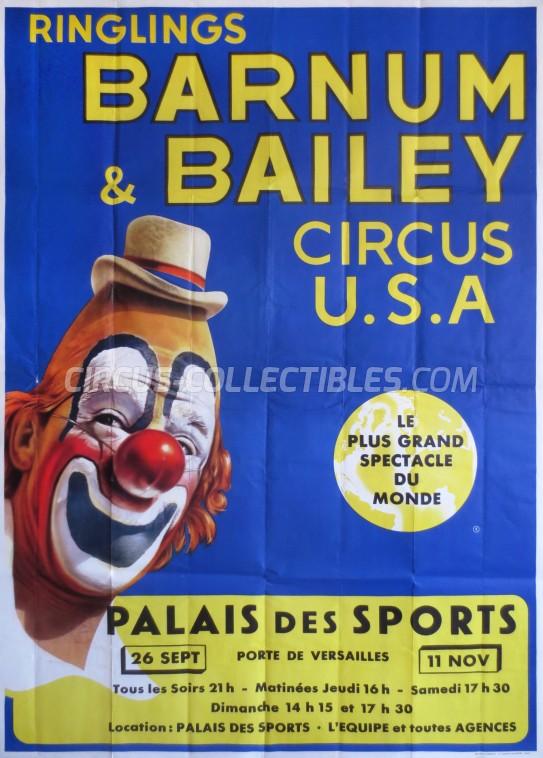 Ringling Bros. and Barnum & Bailey Circus Circus Poster - USA, 1963