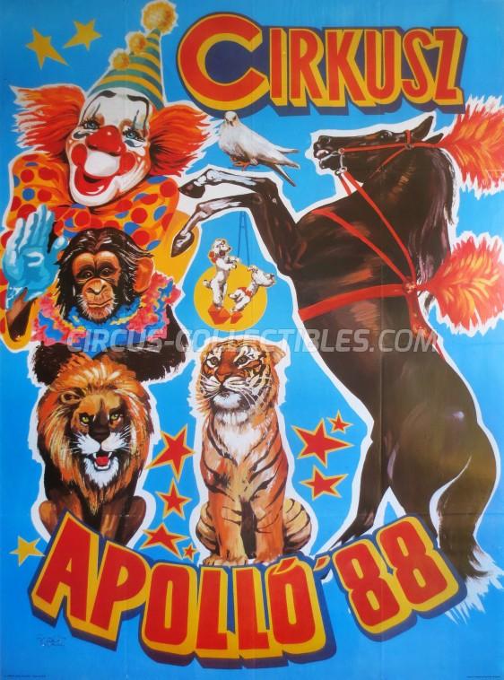 Apollo (HU) Circus Poster - Hungary, 1988