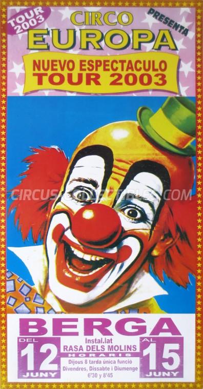 Europa (ES) Circus Poster - Spain, 2003