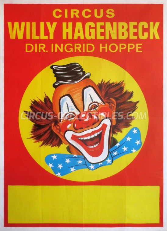 Willy Hagenbeck Circus Poster - Germany, 1977