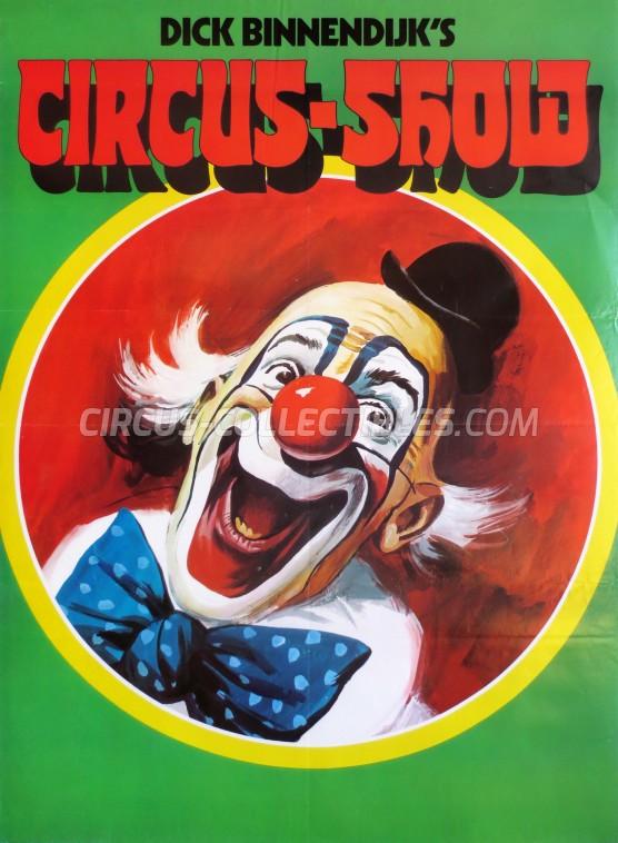 Dick Binnendijk's Circus Show Circus Poster - Netherlands, 1975