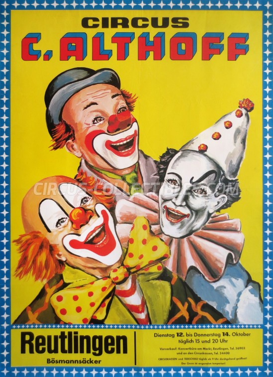 Carl Althoff Circus Poster - Germany, 1976