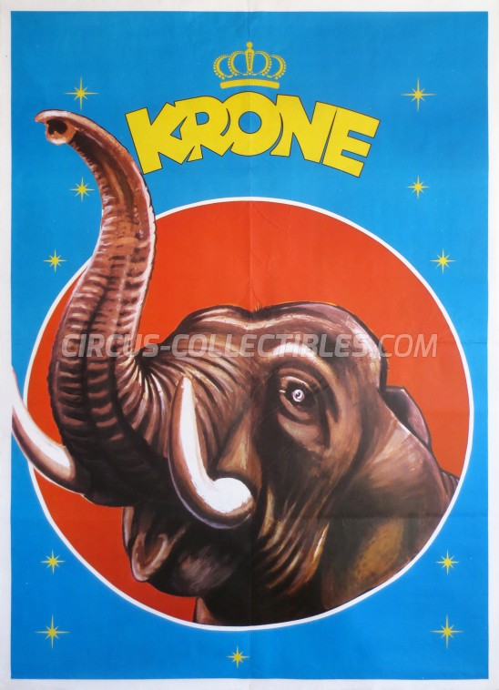 Krone Circus Poster - Germany, 1974