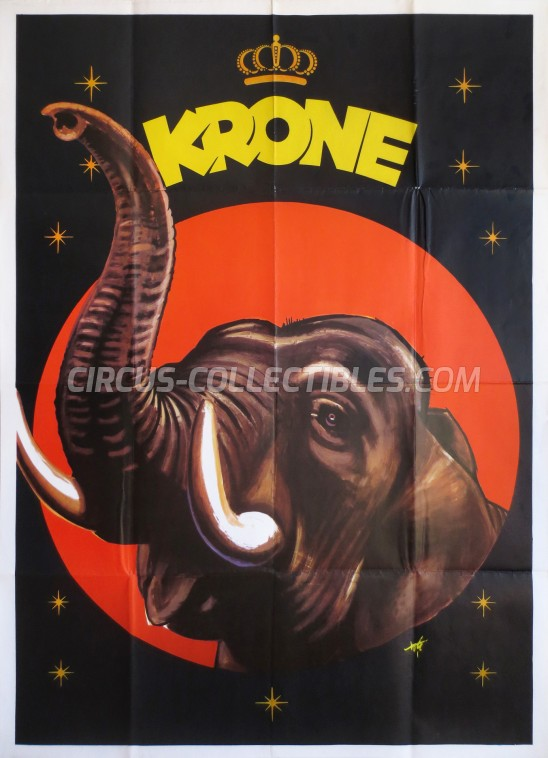 Krone Circus Poster - Germany, 1959