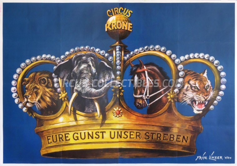 Krone Circus Poster - Germany, 1971