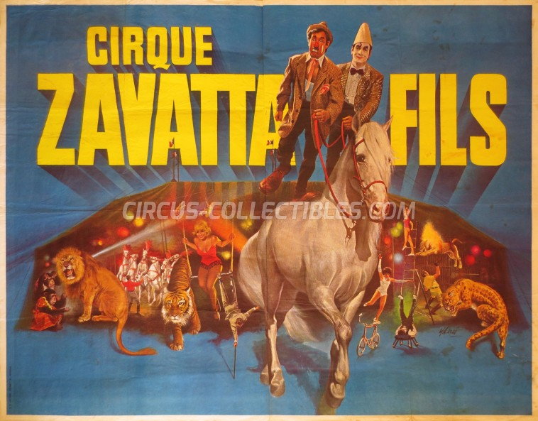 Zavatta Fils Circus Poster - France, 1981