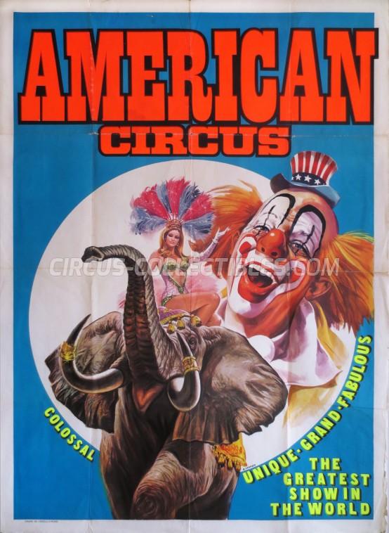 American Circus Circus Poster - Italy, 1980