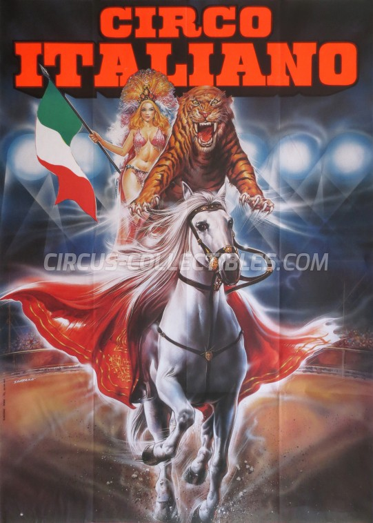 Medrano (Casartelli) Circus Poster - Italy, 1992