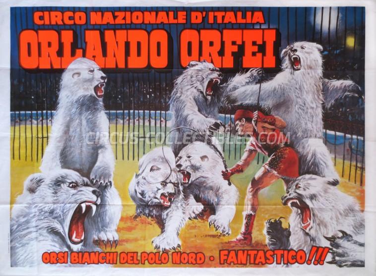 Orlando Orfei Circus Poster - Italy, 1989