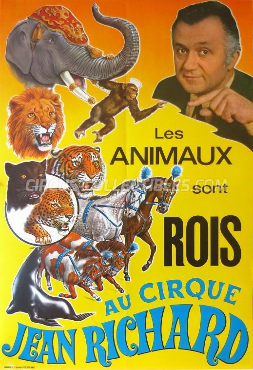 Pinder - Jean Richard Circus Poster - France, 1970
