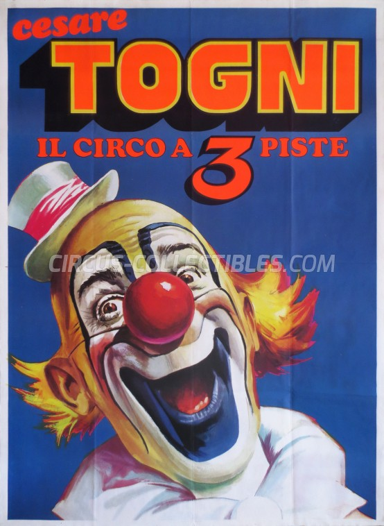 Cesare Togni Circus Poster - Italy, 1982
