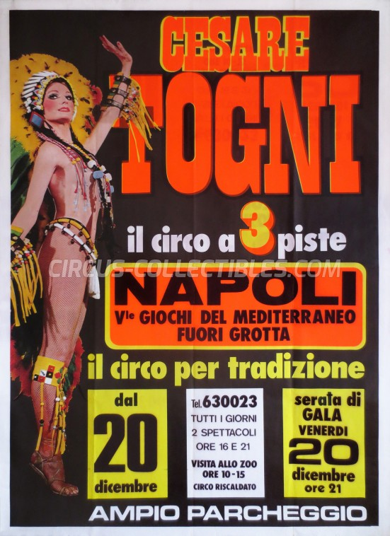 Cesare Togni Circus Poster - Italy, 1985