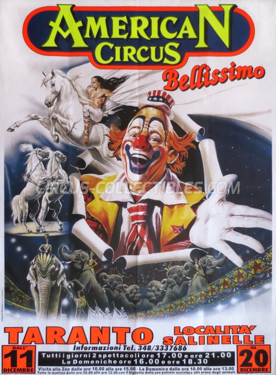 American Circus Circus Poster - Italy, 2009