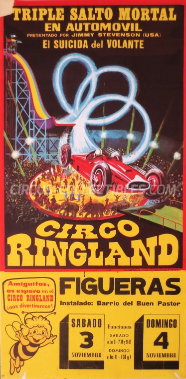 Ringland Circus Poster - Spain, 1976
