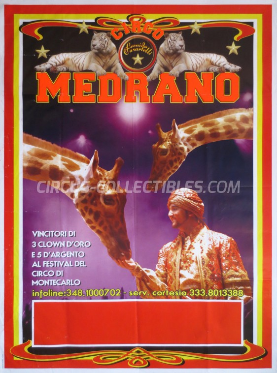 Medrano (Casartelli) Circus Poster - Italy, 0