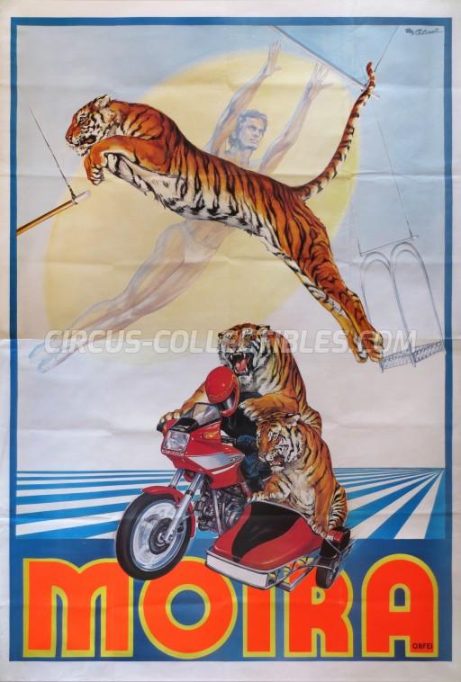 Moira Orfei Circus Poster - Italy, 1985