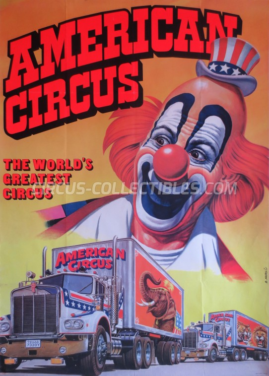 American Circus Circus Poster - Italy, 1983