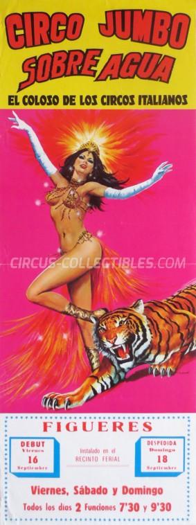 Jumbo Circus Poster - Spain, 1983