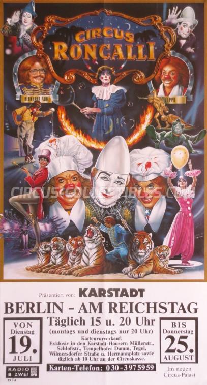 Roncalli Circus Poster - Germany, 1988