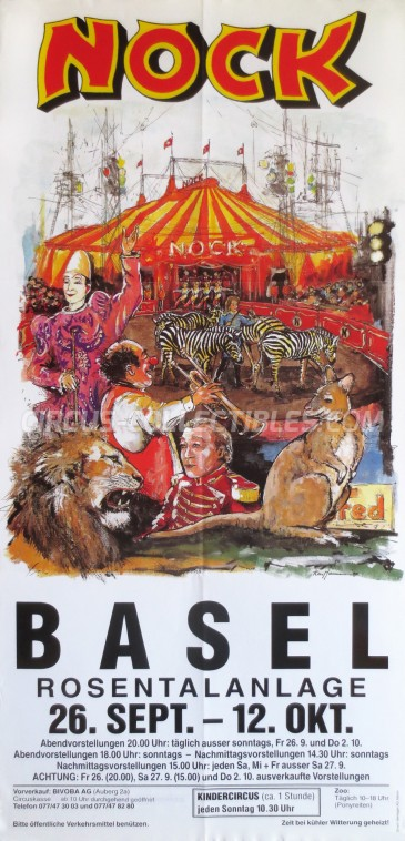 Nock Circus Poster - Switzerland, 1997