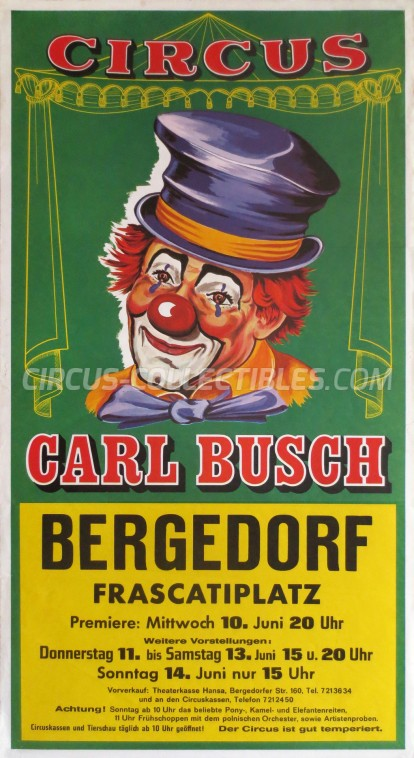 Carl Busch Circus Poster - Germany, 1987