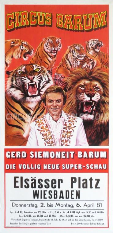 Barum Circus Poster - Germany, 1981