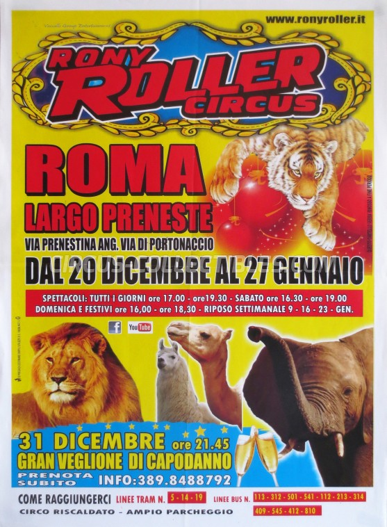 Rony Roller Circus Circus Poster - Italy, 2012