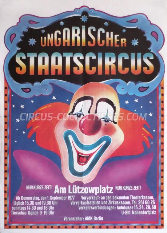 Ungarischer Staatscircus  Circus Poster - Germany, 1977