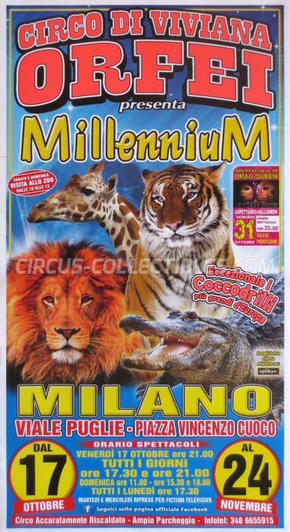 Viviana Orfei Circus Poster - Italy, 2014