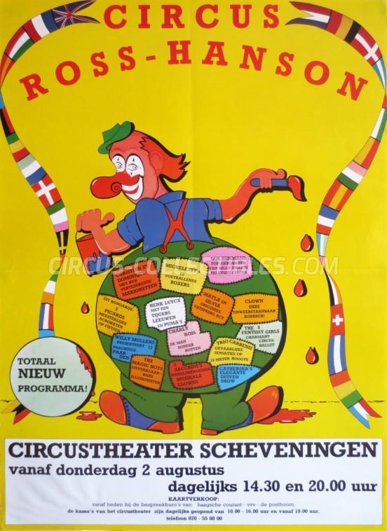 Ross-Hanson Circus Poster - Netherlands, 1984