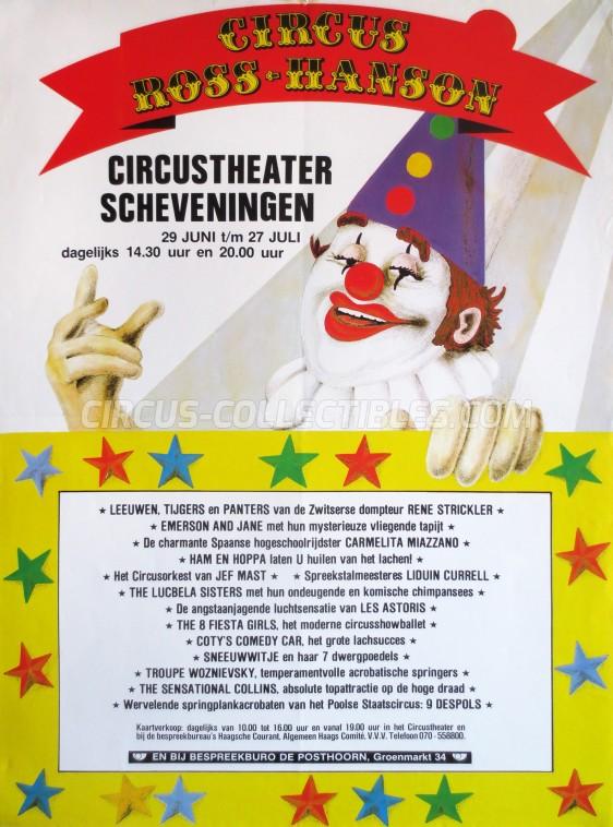 Ross-Hanson Circus Poster - Netherlands, 1983