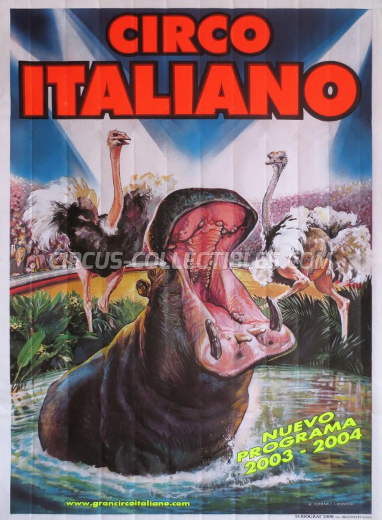 Gran Circo Italiano Circus Poster - Spain, 2003