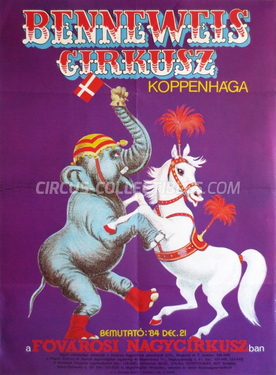 Benneweis Circus Poster - Denmark, 1984