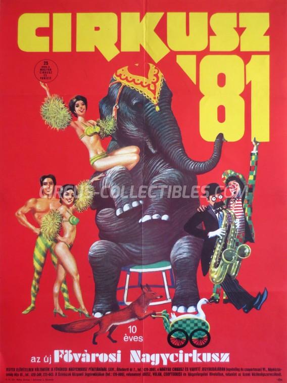 Fovarosi Nagycirkusz Circus Poster - Hungary, 1981