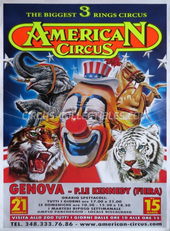 American Circus Circus Poster - Italy, 2015