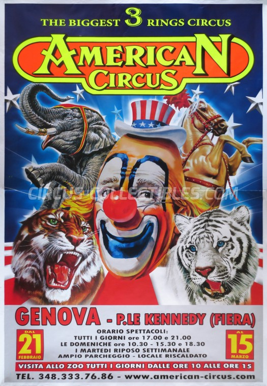 American Circus Circus Poster - Italy, 2015