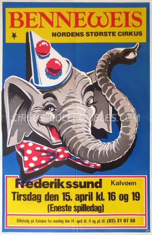 Benneweis Circus Poster - Denmark, 1986
