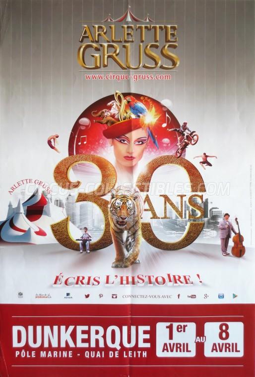 Arlette Gruss Circus Poster - France, 2015