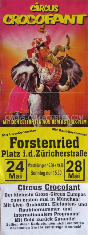Crocofant Circus Poster - Germany, 1995