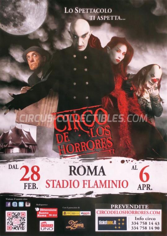 Circo de los Horrores Circus Poster - Spain, 2014