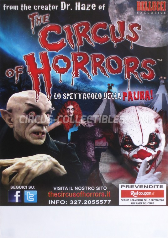 The Circus of Horrors Circus Poster - Italy, 2014