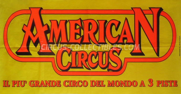 American Circus Circus Poster - Italy, 2004