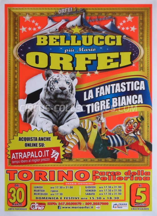 Bellucci Circus Poster - Italy, 2013