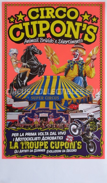 Cupon's Circus Poster - Italy, 2013