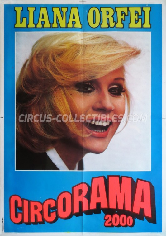 Liana Orfei Circus Poster - Italy, 1983